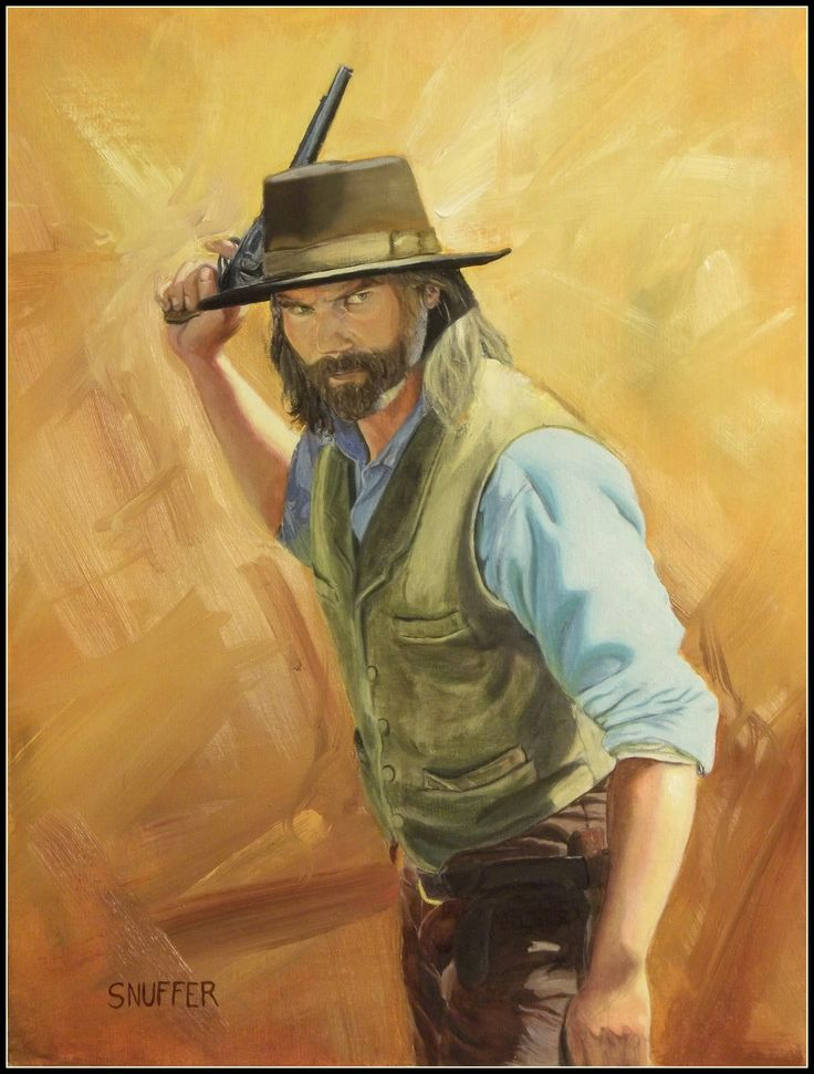Gunslinger Oil Painting