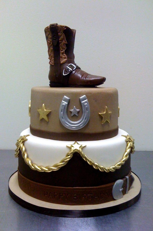 Amy Beck Cake Design - Chicago, IL - Cowboy boot birthday cake - #amybeckcakedesign