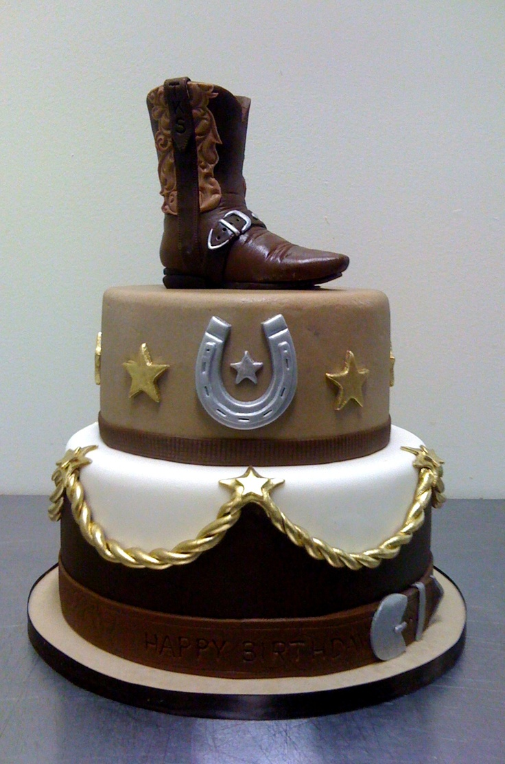 cowboy boot birthday cake on easy birthday cakes adults