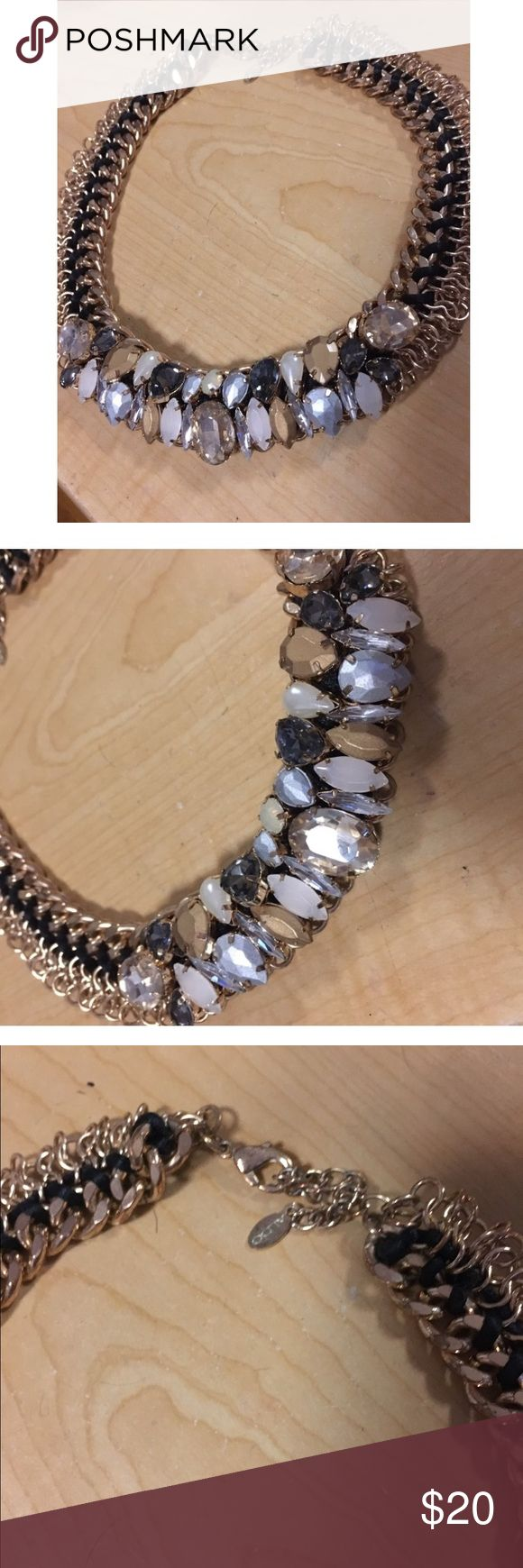 Aldo necklace Gold with neutral tone stones. Great condition Aldo Jewelry Necklaces