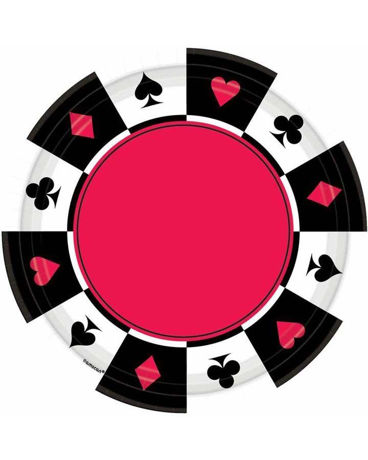 Casino 10 Inch Party Plate  #Casino