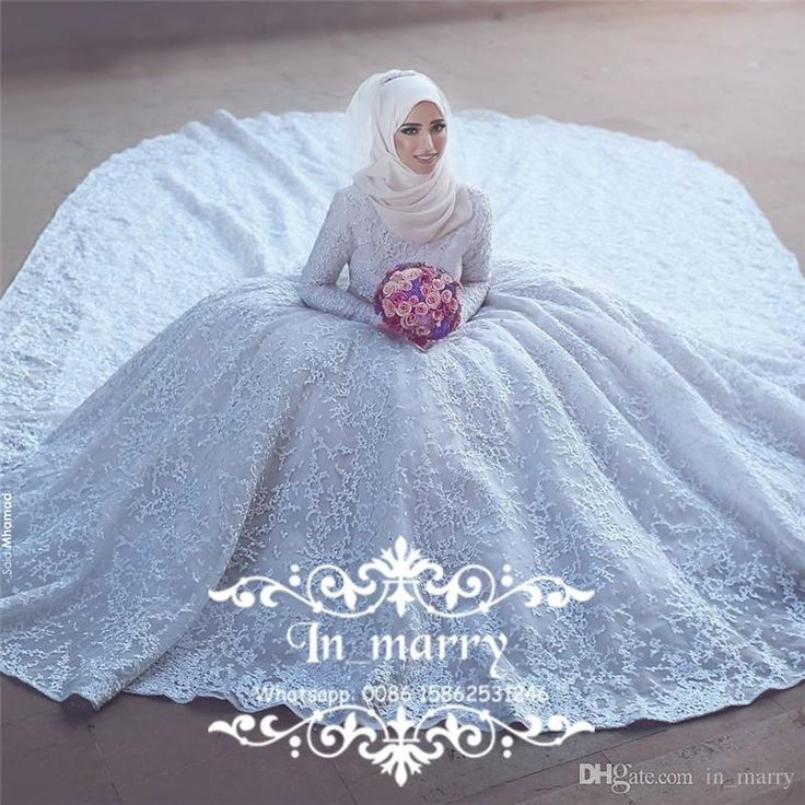2017 Full Lace Islamic Muslim Wedding Dresses Ball Gown High Neck Long Sleeves Plus Size Arabic Victorian Dubai Bridal Gown Vestido De Novia 2017 Wedding Dresses Princess Wedding Dresses Arabic Wedding Dresses Online with $809.38/Piece on In_marry's Store | DHgate.com