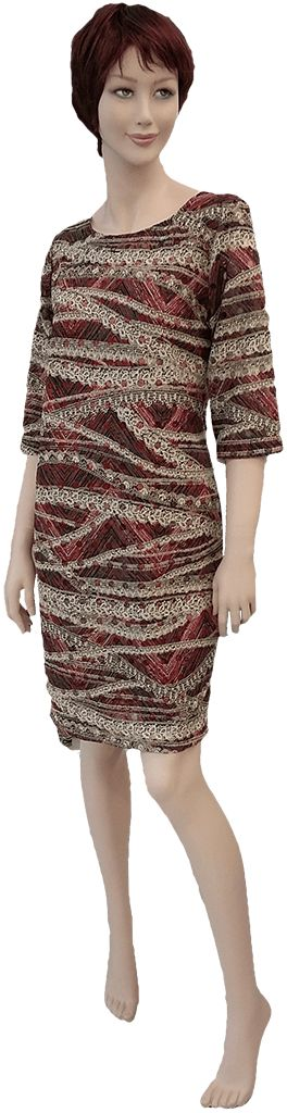 Precioso y elegante vestido, tejido calado tipo encaje, tallas 46-48-50 y 52.