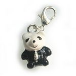 Silver cute Panda Bear charm