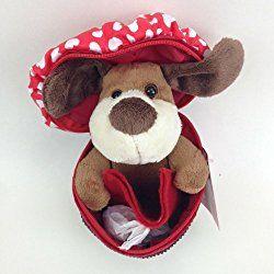 Dog in Cupcake Valentines Day Plush Gift Card Holder