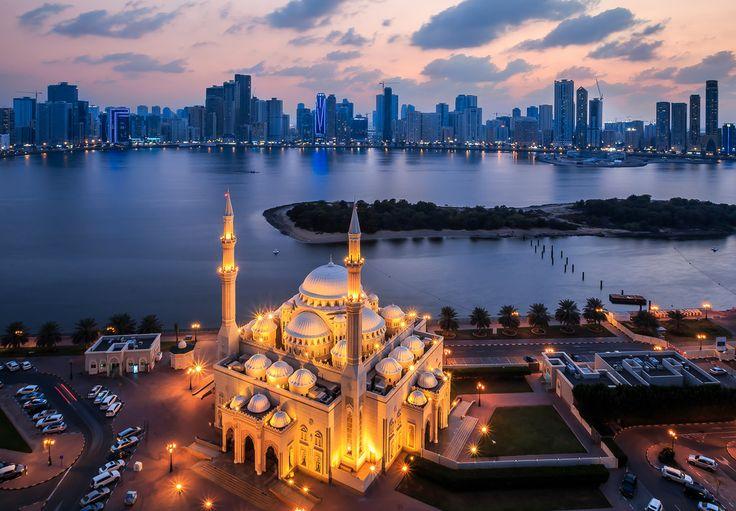 Al Noor mosque, Sharjah, UAE