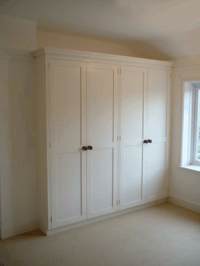 Bespoke Hand-Painted Fitted Double Bedroom Wardrobes. Pigeon Holes. Enlargements 1 (Three Pictures Total = 1.5 MB)
