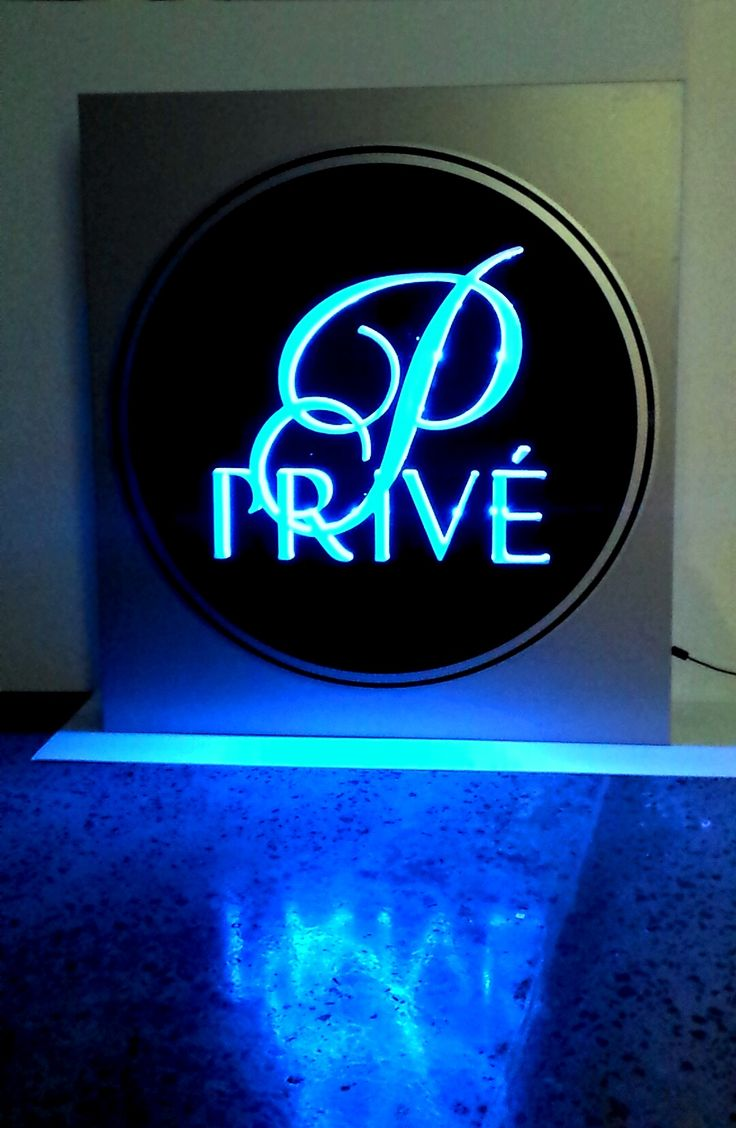Illuminated Sign for Prive by Speedy Signs Newton