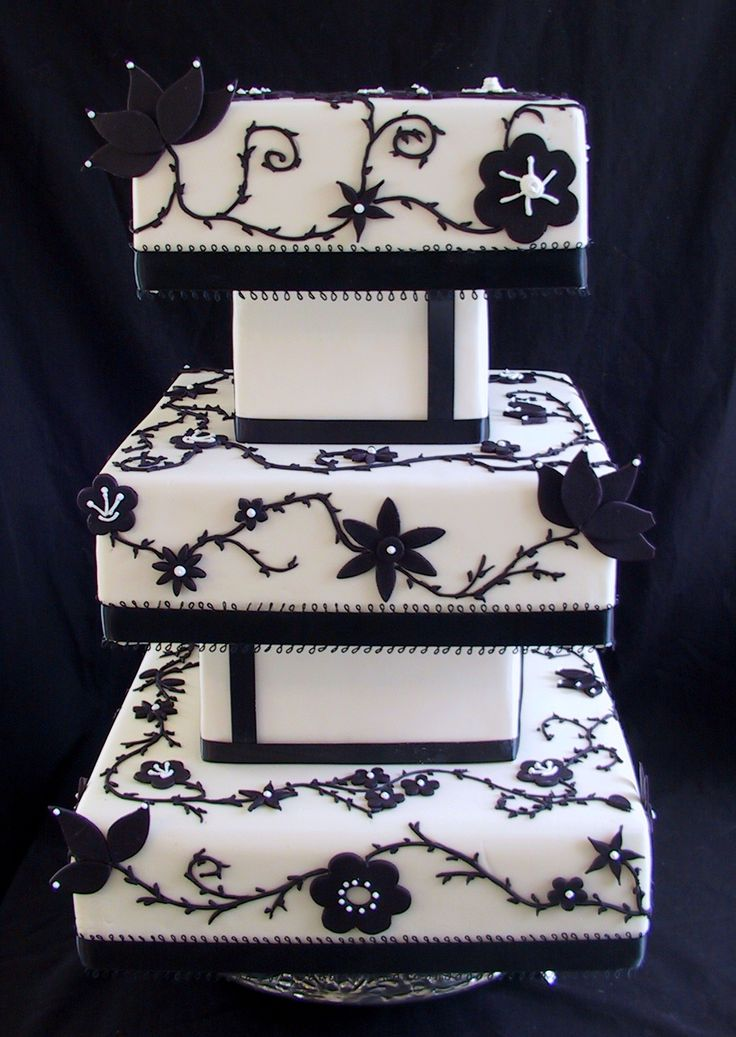 cakes black and white - Google Search