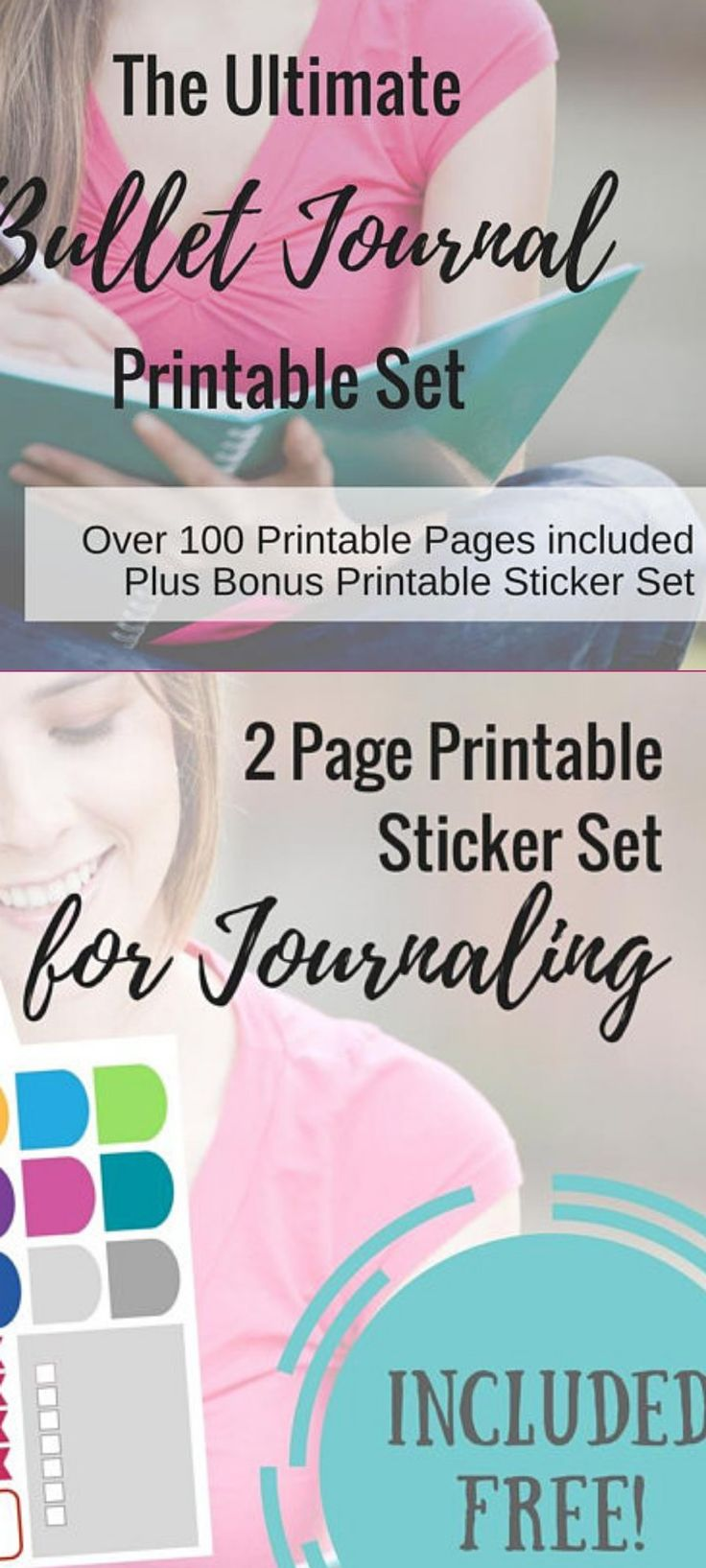 "These pages are designed to inspire and motivate you until you're ready for the ""blank page"". Create your own Bullet Journal from home with this ULTIMATE BULLET JOURNAL PRINTABLE SET. Download instantly and print at home. It comes with over 100 beginner layout printables and **now also includes  10 design grid paper printables set for when you're ready to start designing your own layouts!** #bulletjournal #layouts #template #ad #printable #bujo"