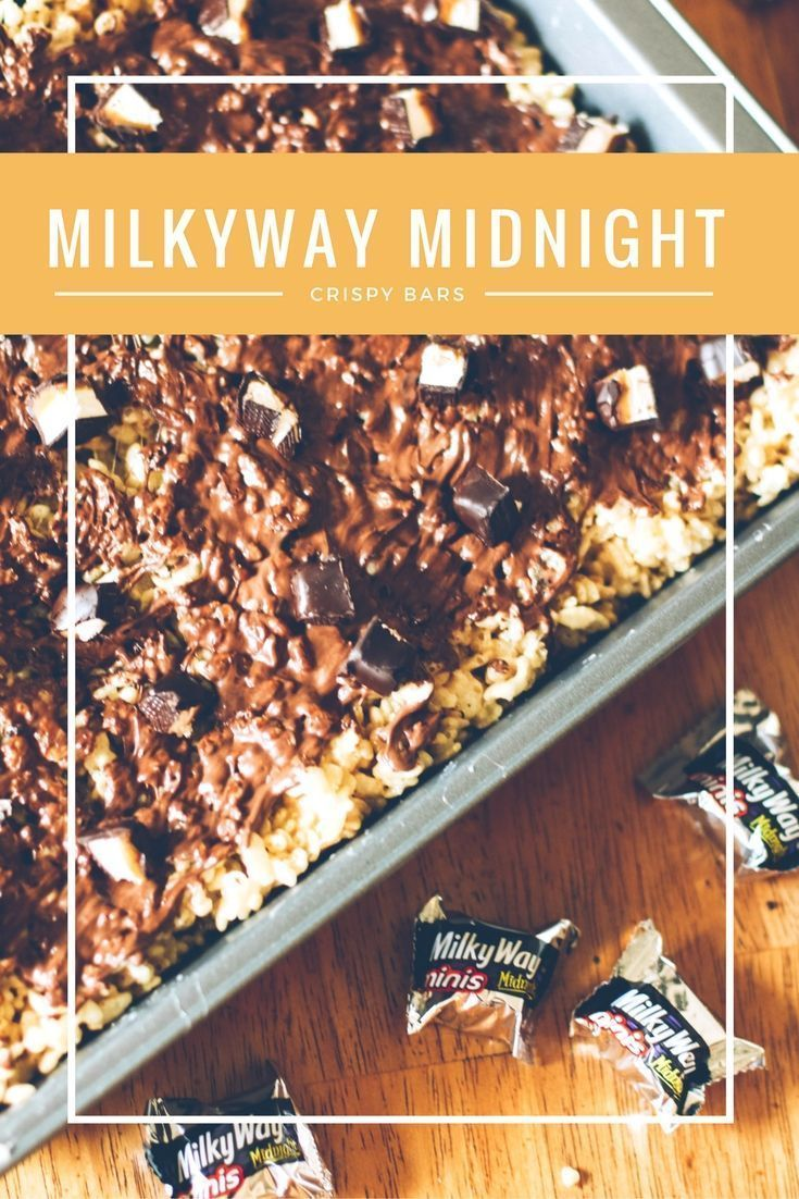 Chocolate Rice Krispy Treats with Milkyway® Midnight candy bars. Yumm! So easy to make and a twist on the regular Rice Krispy Treat!