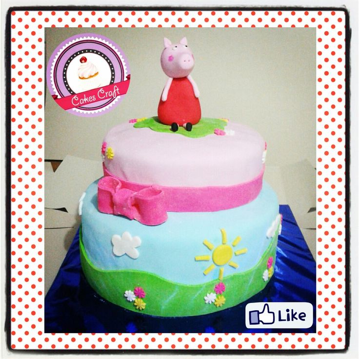 Peppa Pig Cake!/ CID - 541 #tortatematica #barranquilla #cakestagram #uniautonoma #uniatlantico #uninorte #unilibre #unimetro  #hbd #cumpleaños #CakescraftKeados #cakeboss #cupcakewar #cakescraftbq #airsoft #halamadrid #jamesrodriguez10 #collagecostacaribe #enchufetv #colombianexttopmodel #canalcaracol #barranquillaestuciudad #laeratrump #carreraverde #carnavaldebarranquilla2017 #precarnaval #teleton2017 #peppapig #thursday #princess