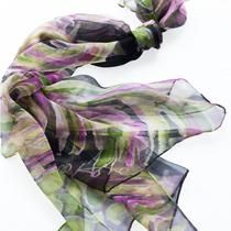 Valeria Black - Hand painted silk scarf by Agnes Ashe