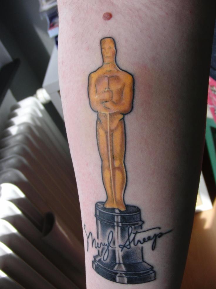 That is my beloved Oscar/Meryl Streep Fan tattoo. I love her so much. ♥