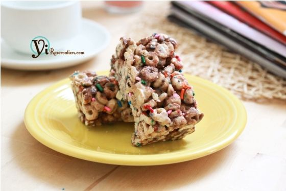 Try these incredibly easy to make and absolutely delicious Chocolate Cheerio Krispie bars. You'll never miss the commercial Rice Krispie again.