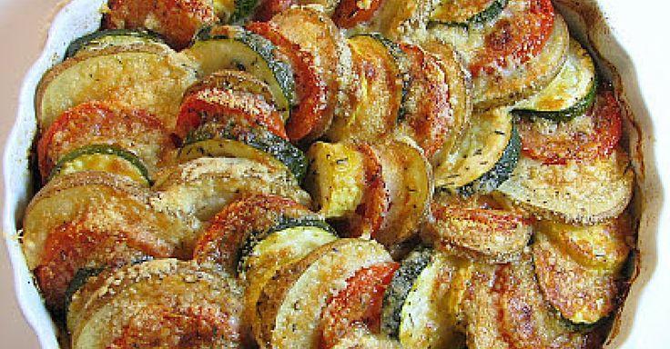 Zapékaná zelenina Tian na olivovém oleji a parmazánu