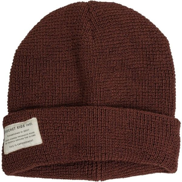 Krochet Kids The Drifter Beanie ($30) ❤ liked on Polyvore featuring accessories, hats, red, logo hats, acrylic hat, krochet kids, red beanie hat and logo beanie hats