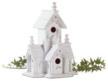 Victorian Birdhouse midcentury birdhouses.  $16.95?  cheep cheep