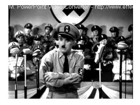 Charlie Chaplin  - Die Rede des großen Diktatoren - Übersetzung ins Deut...