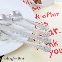 Engraved Paddington Bear Cutlery Set