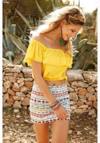 Krátká sukně s potiskem #ModinoCZ