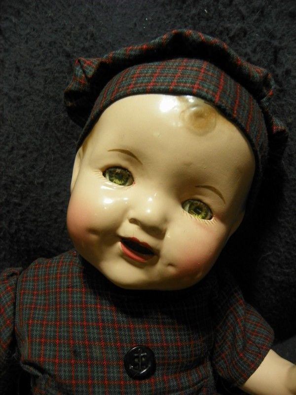 16 Quot Vintage All Composition Baby Doll Big Smile Baby