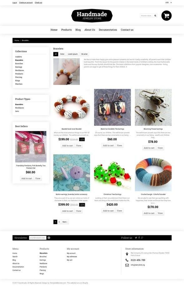 Goodies Store Shopify Theme E-commerce Templates, Shopify Themes, Entertainment, Games & Nightlife, Crafts Templates