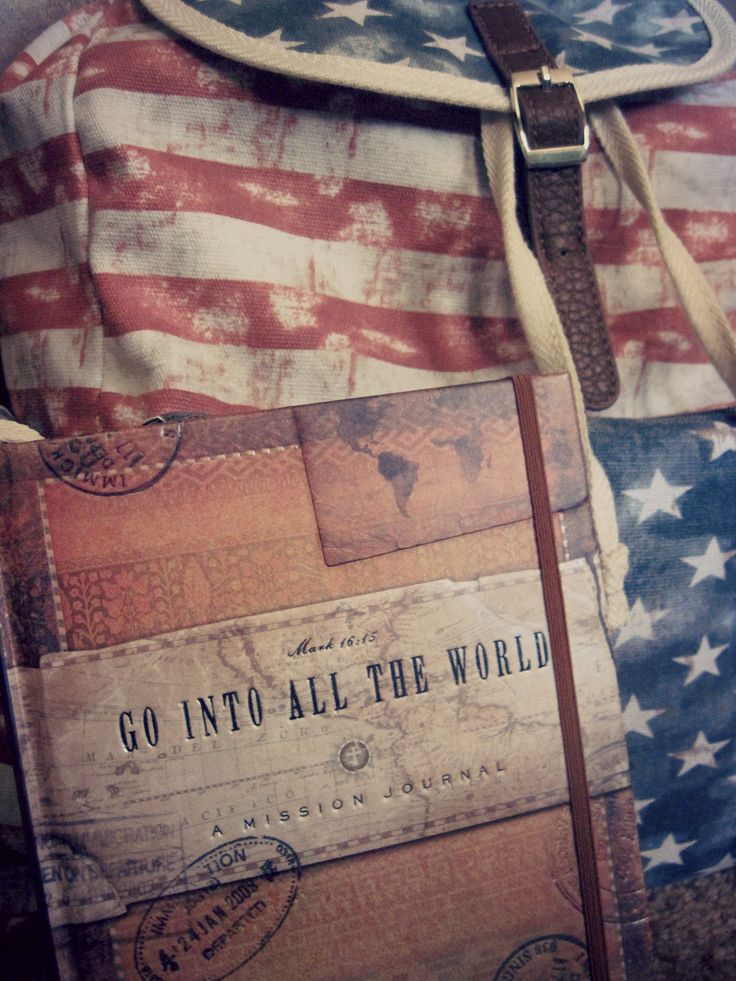 Missions journal & vintage backpack :)