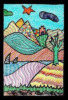 CE1 : Les paysages en arts visuels - Eldounie à lécole