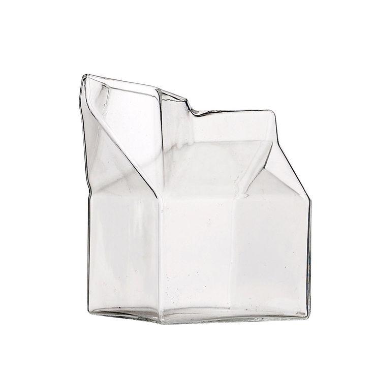 Bloomingville lasinen maitokannu kermakko 9cm 13 e