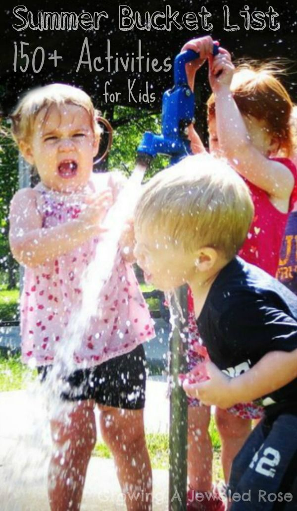 Summer bucket list of FUN!  Over 150 activities to make this the BEST Summer yet!