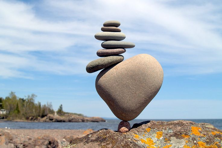 Mind cleansing formula.   Everything has a central point of balance... Pick 8 random misshapen rocks. Sit.  Stack in order of picking. Roll with the tumbles.  Continue. Until they balance.  Breathe. A long as it takes is as long as you need.