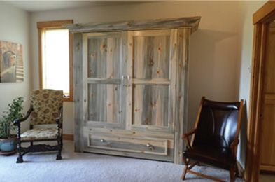 Beetle Kill Pine Timber Murphy Beds! Beetle Kill Pine is an eco-friendly wood choice for your Murphy bed. Checkout how it's done & transformed into beautiful furniture.