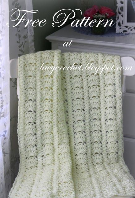 Fancy Shells Crochet Baby Blanket Free Pattern