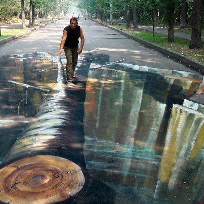 3D street art. Now that's just sick