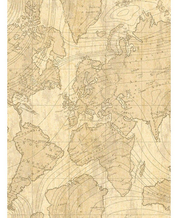 The Crown Luxe Voyager Map Wallpaper in beige, parchment and gold will add a contemporary look but with a vintage twist to your home. Free UK delivery available