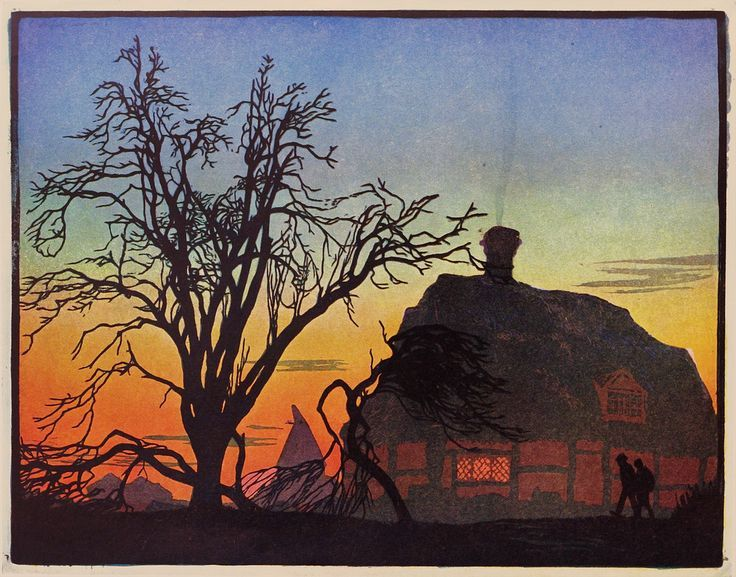 Emile Antoine Verpilleux (1888-1964), Winter Sunset.  A Polar Bear's Tale