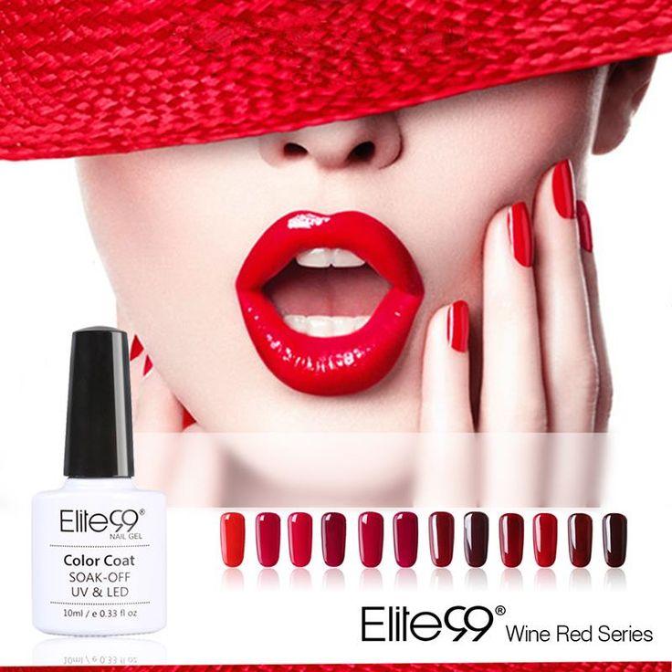 Elite99 10 мл 12 цветов доля красный серии 12 цветов выбрать 1 уф гель лак для ногтей польский гель из светодиодов уф ногтей маникюр купить в магазине Elite99 Royal Beauty на AliExpress