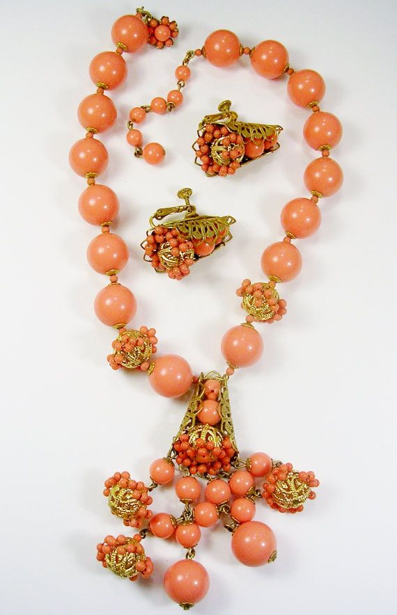 Vintage signed MIRIAM HASKELL NECKLACE Earrings от unclesteampunk