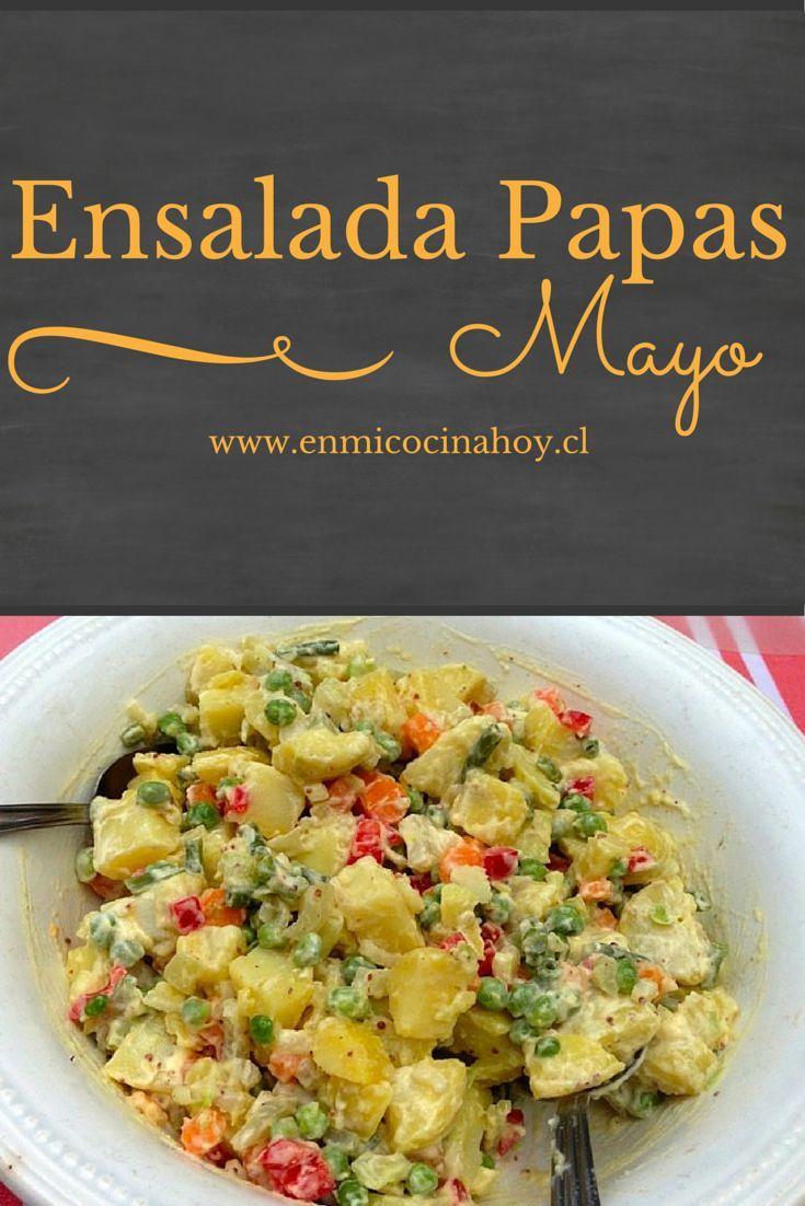 La ensalada de papas mayo o ensalada rusa no puede faltar en un asado chileno. La puedes preparar con anticipación y mejora en sabor.