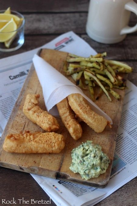 Fish and chips, frites de panais et sauce tartare maison