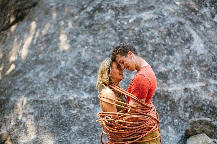 Yosemite rock climbing engagement   Photography by Peter Amend