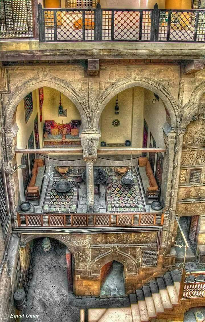 Old Ottoman Era House Museum In Cairo Egypt It Was Originally Built 1648 By Abdel Wahab El Tablawy Along The Darb Al Asfar A Very Prestigious And
