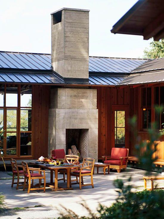 Adding a fireplace to the outside of your home -- especially if you already have a chimney -- can be a great way to add interest to your home's architecture and give you another place to enjoy the outdoors.