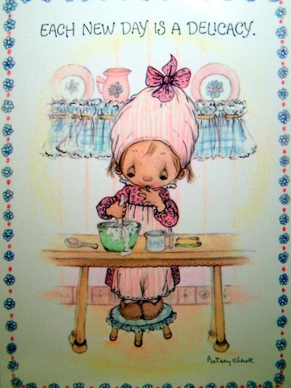 Vintage 1970s Betsey Clark Postcard