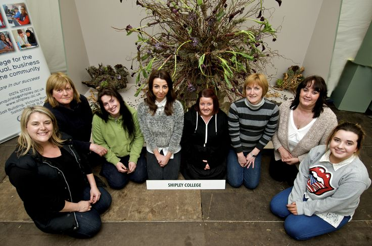 Floristry staff and students with their silver award winning creation for the college groups competition. The theme was 'Myths and Legends' and they brought the mythological 'Medusa' to life.