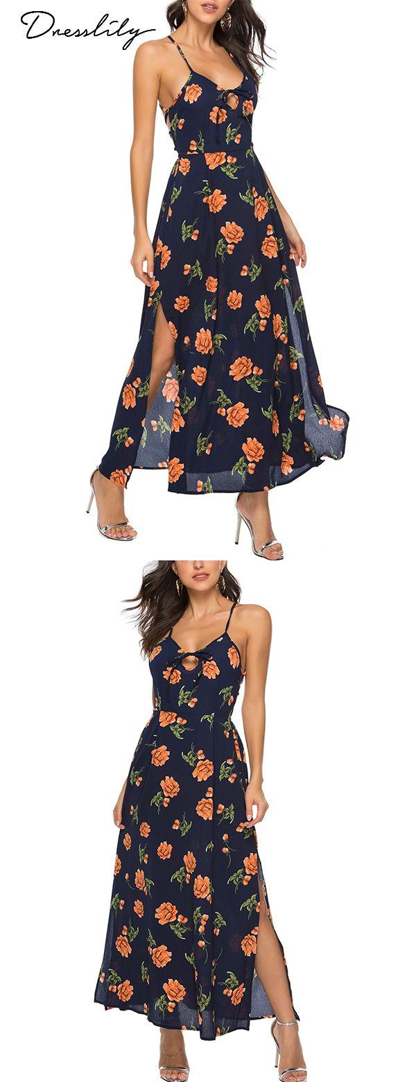 Dresslily Sunflower Cold Shoulder Dresses Vintage Flare Dress Summer Dresses Sale Printed Sheath Dresses [ 1560 x 600 Pixel ]