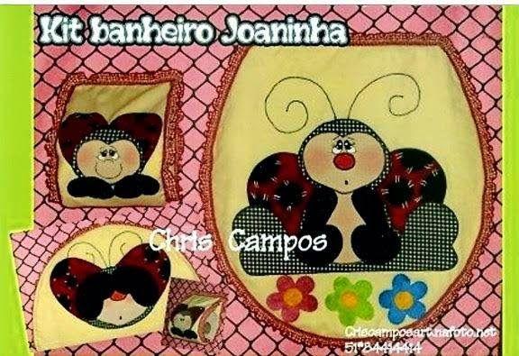 Kit Banheiro Molde : Moldes para artesanato em tecido kit banheiro joaninha