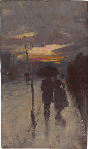 Going home Tom ROBERTSc.1 On Saturday morning 17 August 1889, a group of artists opened the doors to  the 9 by 5 Impression Exhibition at Buxton's Art Gallery in Melbourne.  Among the...