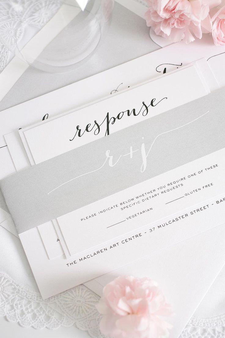 lotus flower wedding invitations%0A Silver Script Wedding Invitations